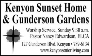 Kenyon Sunset Home & Gunderson Gardens