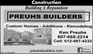 Custom Homes, Additions, Remodeling