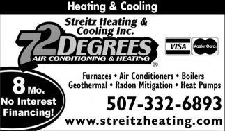 72 Degrees Air Conditioning and Heating