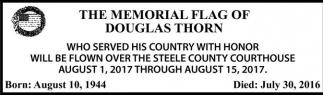 Memorial Flag of Douglas Thorn