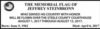 Memorial Flag of Jeffrey Steinbronn