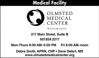 Medical Facility, Olmsted Medical Center - Wanamingo, Rochester, MN