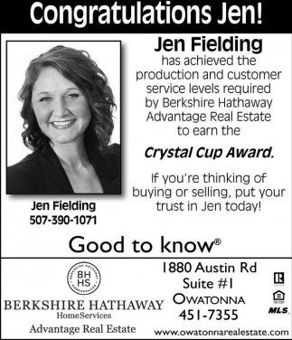 Congratulations Jen!