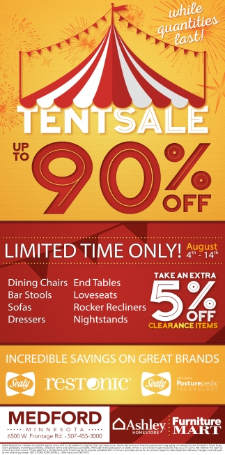 Tent Sale Up to 90% off