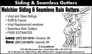 Siding & Seamless Gutters