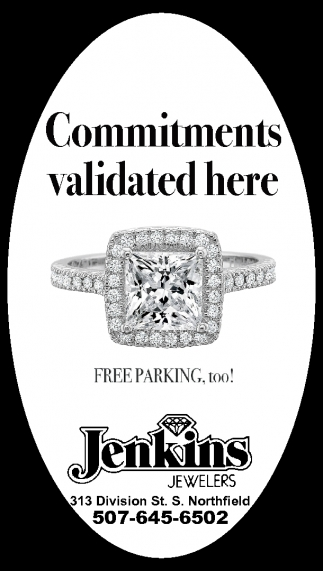 Commitments validated here, Jenkins Jewelers, Northfield, MN