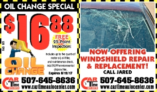 Windshield Repair & Replacement, Car Time Auto Center, Dundas, MN