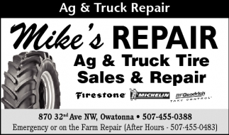 Ag and Truck Repair, Mike's Repair, Owatonna, MN