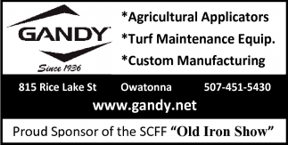 Proud Sponsor of the SCFF Old Iron Show, Gandy