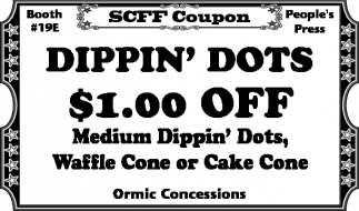 Dippin' Dots $1.00 off
