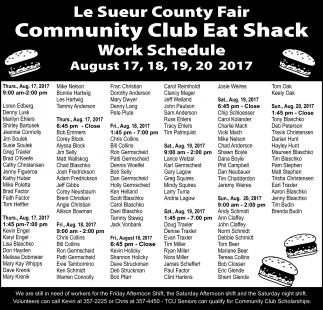 Community Club Eat Shack