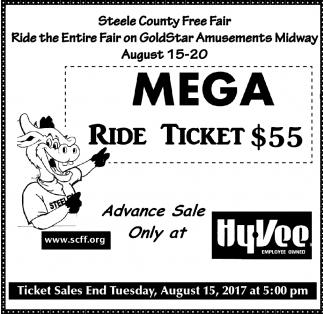 Mega Ride Ticket $55