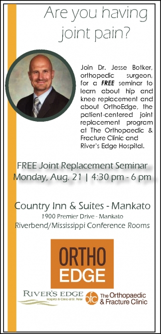 Dr Jesse Botker Free Seminar River S Edge Hospital And Clinic St