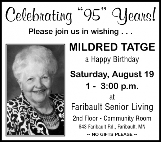 Celebrating 95 Years Mildred Tatge