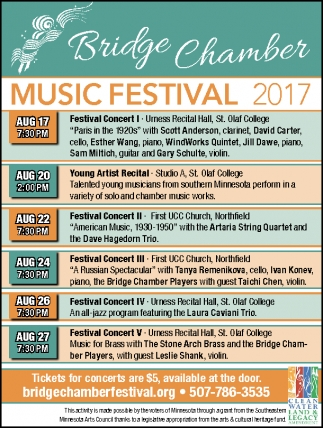 Music Festival 2017, Bridge Chamber Music Festival, Northfield, MN