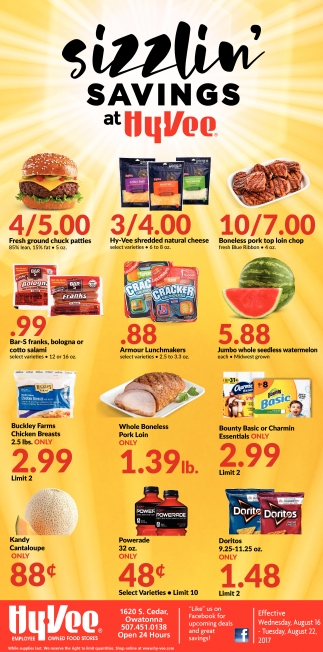 Sizzlin' Savings at Hy-Vee