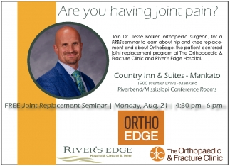 Dr Jesse Botker Free Seminar The Orthopaedic And Fracture Clinic