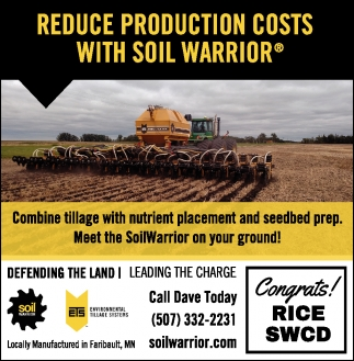 Reduce Production Costs With Soil Warrior, Soil Warrior