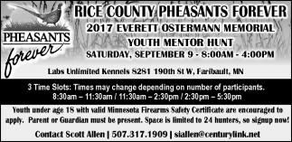 2017 Everett Ostermann Memorial