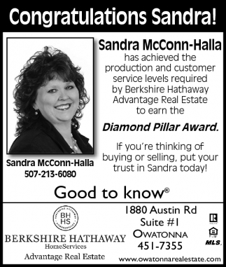 Sandra McConn-Halla Diamond Pillar Award