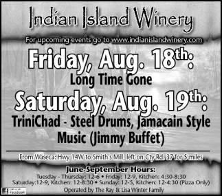 For upcoming events go to www.indianislandwinery.com