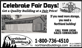 Celebrate Fair Days!, Northland Buildings, Eau Claire, WI