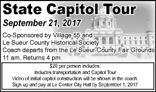 State Capitol Tour, City of Le Center