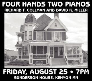 Four Hands Two Pianos, Kenyon Area Historical Society