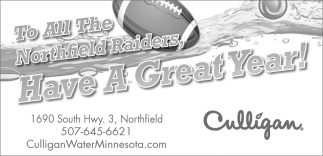 To All The Northfield Raiders, Have A Great Year!