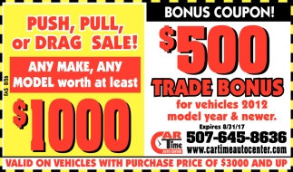 Push, Pull or Drag Sale!