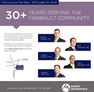 30+ Years serving the Faribault Community