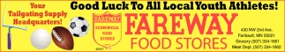 Good Luck To All Local Youth Athletes!, Fareway Food Stores, Faribault, MN