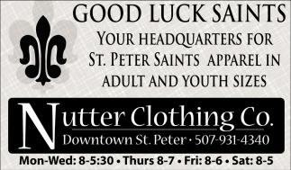 Good Luck Saints