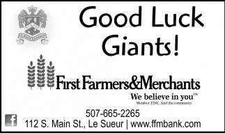 Good Luck Giants!