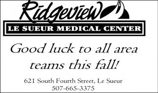 Good luck to all area teams this fall!
