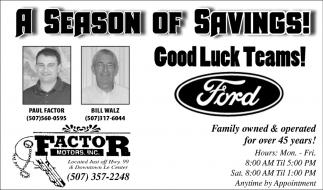 A Season of Savings!