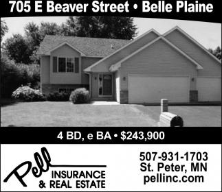 705 E Beaver Street. Belle Plaine