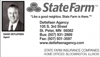 Like a good neighbor, State Farm is there, State Farm: David Detlefsen