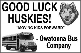 Good Luck Huskies!