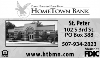 Hometown Bank St. Peter, Hometown Bank, St. Peter, MN