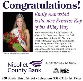 Congratulations Emily Annexstad