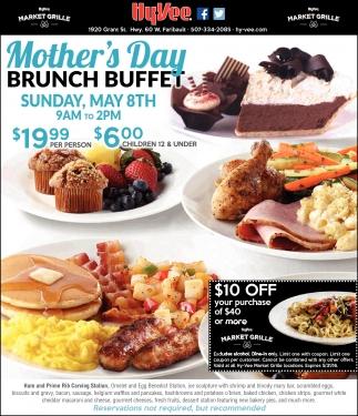 Day BRUNCH BUFFET, Hy-vee Market Grille, Faribault, MN