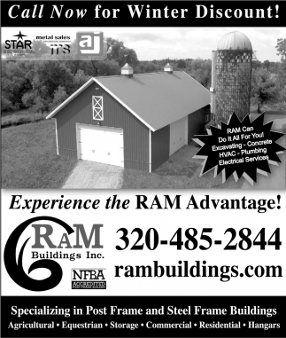 Call now for winter discount!, Ram Buildings Inc