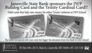 Sponsors the JWP Bulldog Card and the Trinity Cardinal Card!