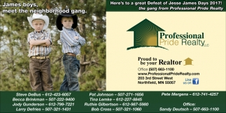 Defeat of Jesse James Days 2017, Professional Pride Realty, Northfield, MN
