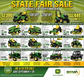 State Fair Sale, Sema Equipment, Pequot Lakes, MN