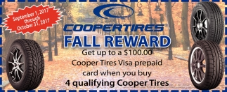 Coopertires Fall Reward