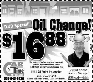 DJJD Special Oil Change