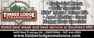 Coupon, Timber Lodge Steakhouse, Owatonna, MN