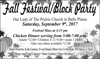 Fall Festival / Block Party, Our Lady of The Prairie Church - Belle Plaine